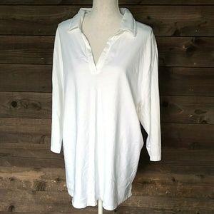 Liz & Me white tunic blouse